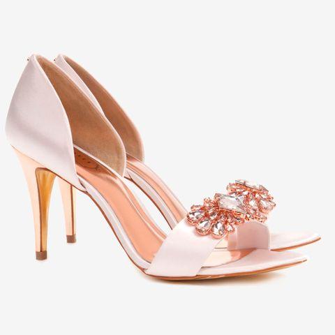Brown, Jewellery, Pink, Sandal, High heels, Fashion accessory, Basic pump, Tan, Fashion, Bridal shoe,