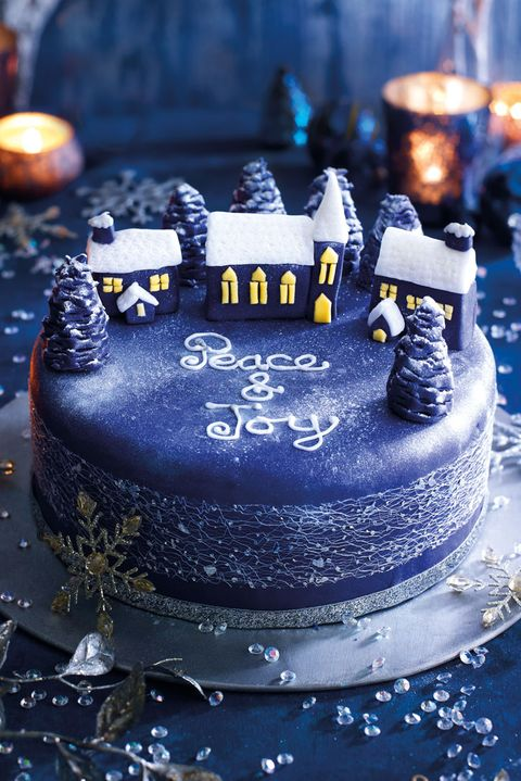 good housekeeping uk silent night christmas cake - Christmas Cake Decoration Ideas