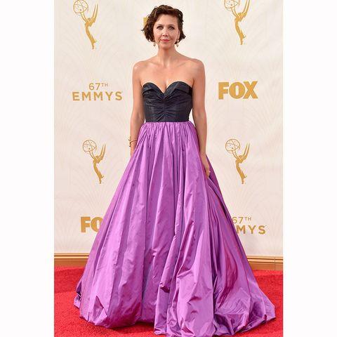 Clothing, Yellow, Dress, Shoulder, Purple, Magenta, Strapless dress, Formal wear, Pink, Style,