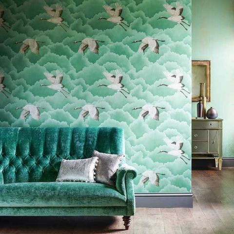 Green, Wood, Chest of drawers, Room, Textile, Floor, Furniture, Drawer, Wall, Teal,