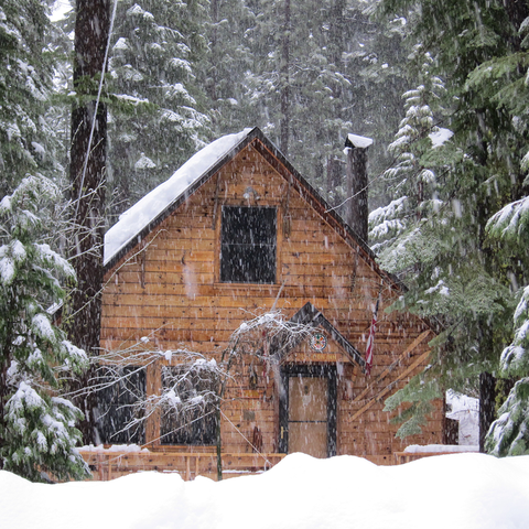 Winter, Property, Freezing, House, Snow, Home, Tree, Roof, Woody plant, Hut,