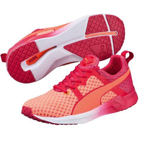 Footwear, Product, Brown, Shoe, Red, White, Orange, Pink, Magenta, Pattern,