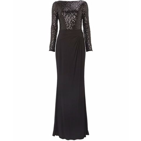 Clothing, Dress, Sleeve, Shoulder, Textile, Standing, One-piece garment, Formal wear, Style, Day dress,