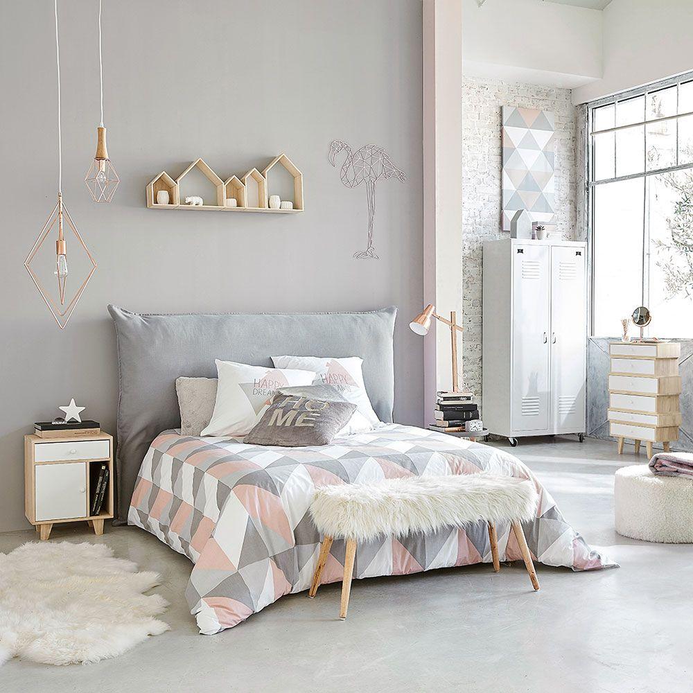 9 pink and grey bedroom ideas - pink and grey bedroom colour decor