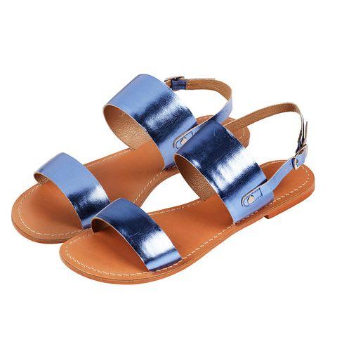 Footwear, Brown, Product, Tan, Fashion, Orange, Electric blue, Beige, Leather, Strap,