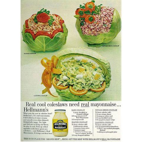 Food, Dish, Cuisine, Ingredient, Vegetarian food, Vintage advertisement, Zucchini, Recipe, Produce, Vegetable,