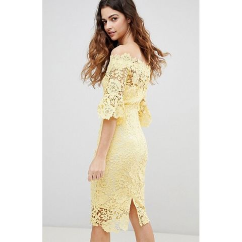 de5015ae76a5f Yellow is definitely the colour of the season and this lovely frock from  ASOS is the perfect way to work the trend. The flattering tailored bodycon  features ...