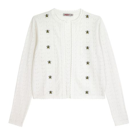Clothing, Outerwear, White, Sleeve, Cardigan, Sweater, Jacket, Beige, Button, Top,