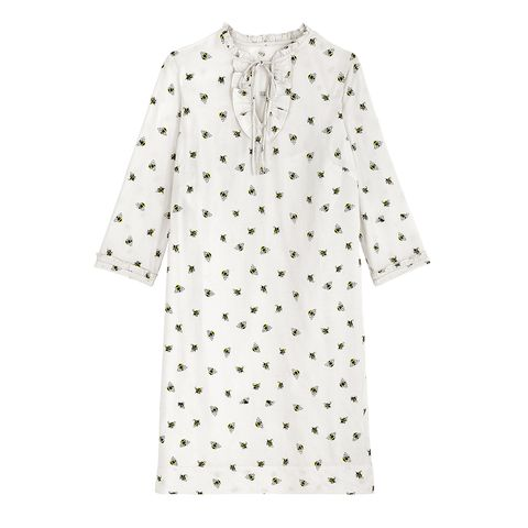 Clothing, White, Day dress, Pattern, Sleeve, Polka dot, Dress, Design, Cover-up, Outerwear,