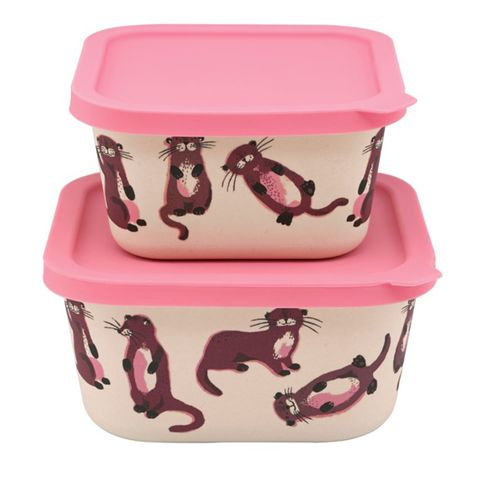 Pink, Food storage containers, Lid, Plastic, Box, Cookware and bakeware, Home accessories,