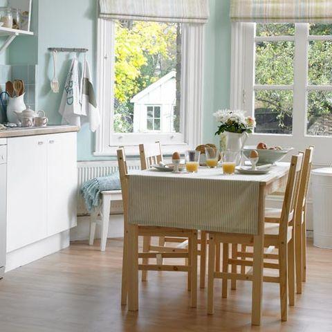 Wood, Floor, Room, Flooring, Tablecloth, Interior design, Furniture, Table, Hardwood, Wood flooring,