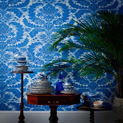 Blue, Majorelle blue, Interior design, Cobalt blue, Electric blue, Interior design, Aqua, Porcelain, Artifact, Lamp,
