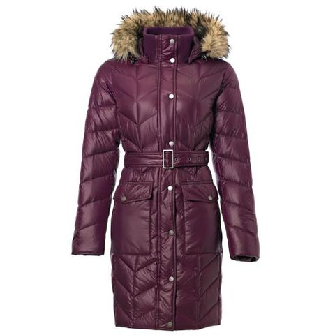 Brown, Jacket, Sleeve, Textile, Coat, Outerwear, Collar, Natural material, Fur clothing, Magenta,