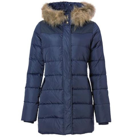 Blue, Jacket, Sleeve, Textile, Outerwear, White, Fur clothing, Natural material, Fashion, Black,