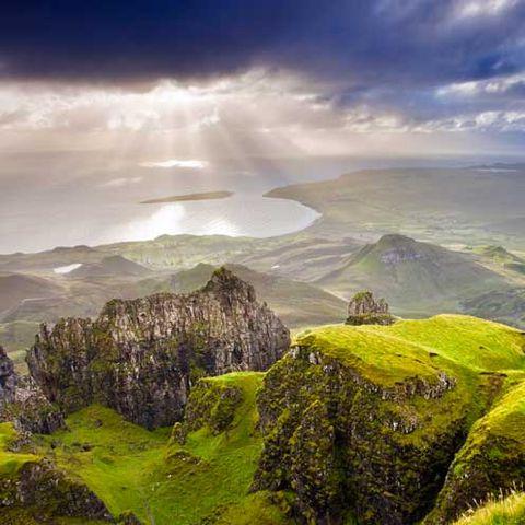 Natural landscape, Mountainous landforms, Cloud, Highland, Landscape, Mountain, Hill, Bedrock, Geology, Outcrop,
