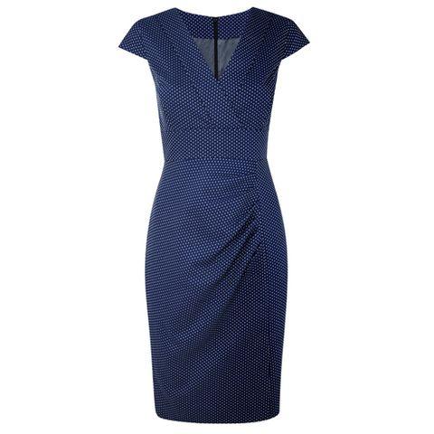 Blue, Sleeve, Dress, One-piece garment, Pattern, Formal wear, Electric blue, Day dress, Cobalt blue, Aqua,