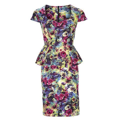 Dress, Pattern, One-piece garment, Day dress, Fashion, Aqua, Teal, Pattern, Fashion design,