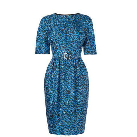 Blue, Sleeve, Textile, Dress, Pattern, One-piece garment, Electric blue, Fashion, Aqua, Azure,