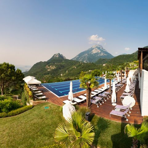 Plant, Resort, Landscape, Mountain range, Hill, Swimming pool, Hill station, Real estate, Garden, Ridge,