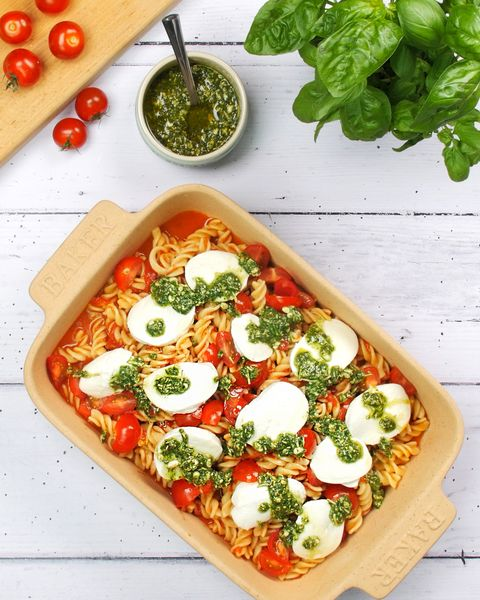 best vegetarian recipes caprese pasta bake