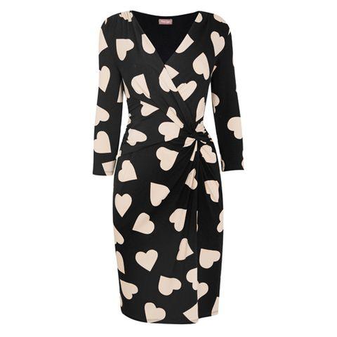 Sleeve, Pattern, Dress, Orange, One-piece garment, Day dress, Peach, Pattern, Camouflage, Button,