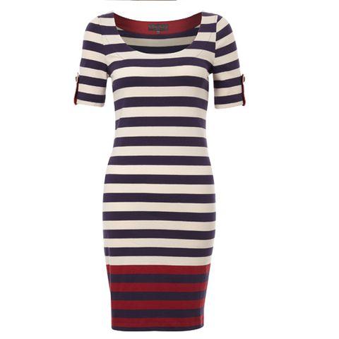 Product, Sleeve, White, Style, Pattern, Dress, Orange, Neck, Electric blue, Aqua,