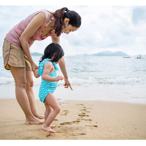 People on beach, Human body, People in nature, Coastal and oceanic landforms, Summer, Child, Shore, Barefoot, Beach, Interaction,