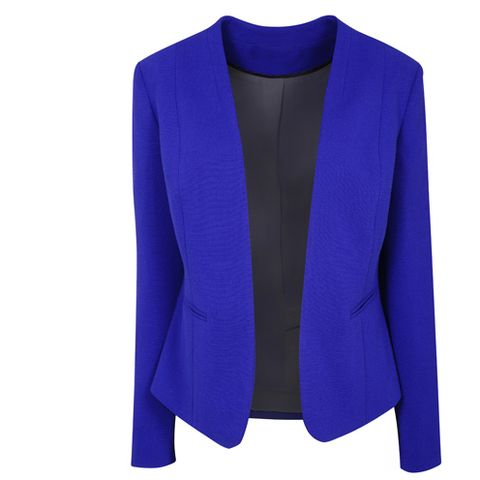 Clothing, Blue, Sleeve, Coat, Collar, Textile, Outerwear, Electric blue, Cobalt blue, Fashion,