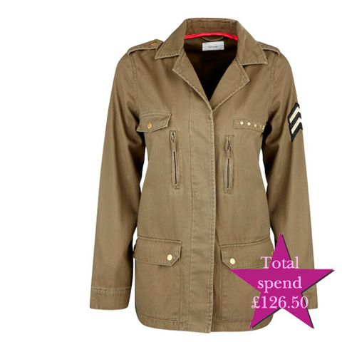 Product, Brown, Collar, Dress shirt, Sleeve, Textile, White, Uniform, Khaki, Coat,