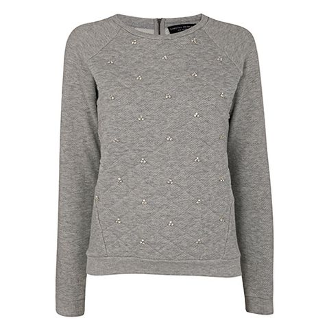 Product, Sleeve, Textile, Sweater, White, Collar, Pattern, Fashion, Grey, Woolen,
