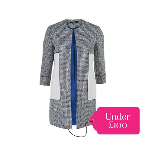 Blue, Product, Sleeve, Collar, Coat, Textile, Pattern, Style, Electric blue, Fashion,