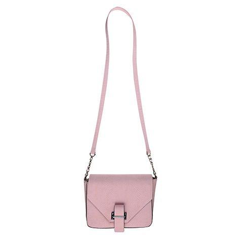 Pink, Shoulder bag, Maroon, Beige, Peach, Material property, Metal, Leather, Strap, Silver,