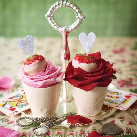 Food, Pink, Petal, Dessert, Jewellery, Sweetness, Cuisine, Frozen dessert, Dairy, Ice cream,