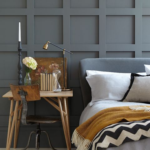 Wood, Room, Textile, Furniture, Interior design, Wall, Linens, Cushion, Pillow, Grey,