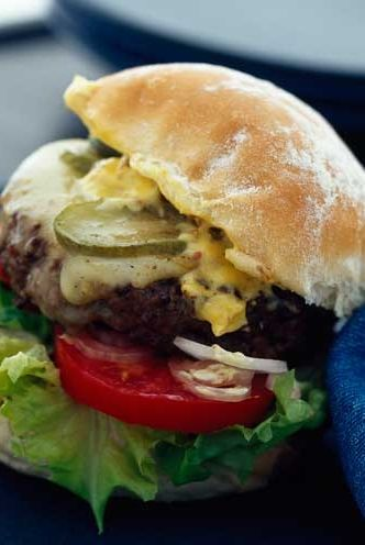 Food, Dish, Hamburger, Cuisine, Slider, Veggie burger, Ingredient, Breakfast sandwich, Bun, Cheeseburger,