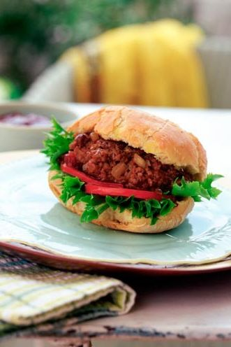 Dish, Food, Cuisine, Ingredient, Sloppy joe, Rou jia mo, Veggie burger, Hamburger, Produce, Staple food,