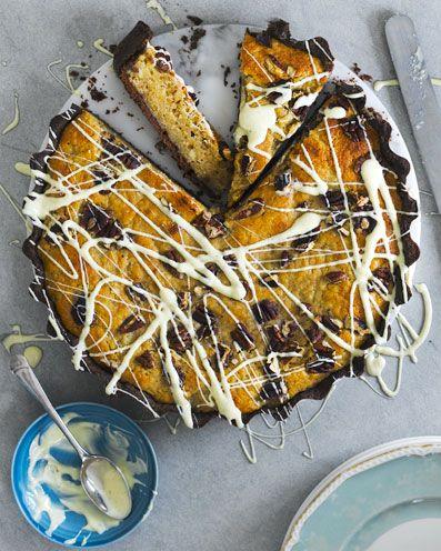 best banana cake recipe banana and white chocolate blondie tart