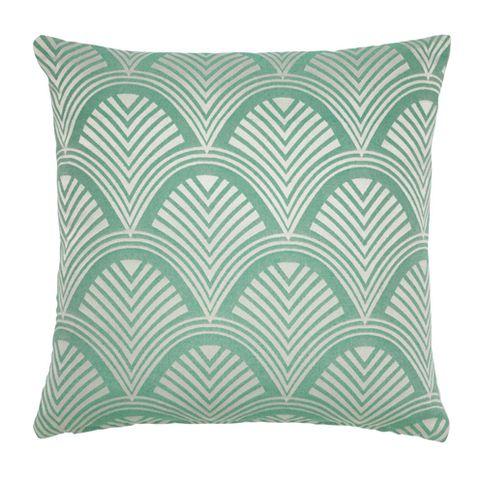 Green, Throw pillow, Textile, Pillow, Cushion, Pattern, Linens, Teal, Aqua, Turquoise,