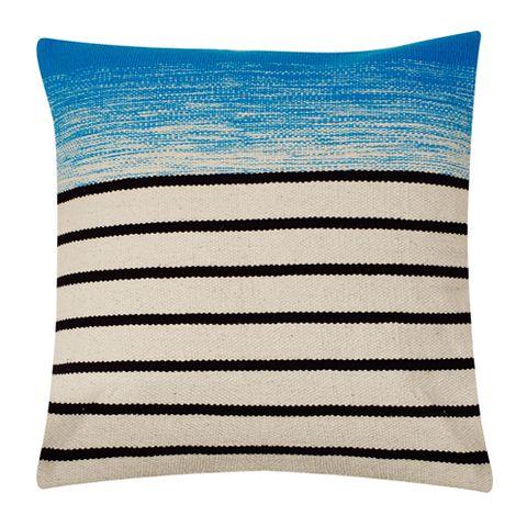 Textile, Cushion, Home accessories, Pattern, Electric blue, Aqua, Rectangle, Linens, Pillow, Throw pillow,