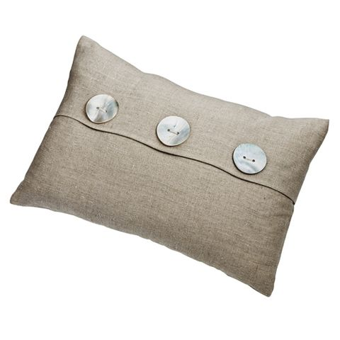 Brown, Textile, Khaki, Linens, Beige, Home accessories, Cushion, Circle, Button, Linen,