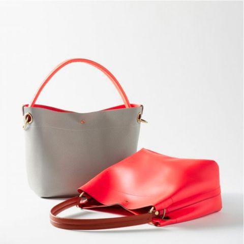 Red, Bag, Carmine, Orange, Shoulder bag, Maroon, Beige, Leather, Strap, Silver,