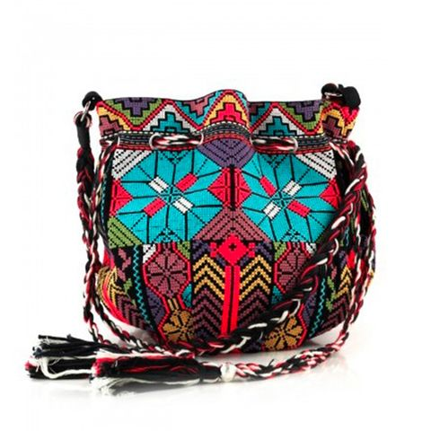 Textile, Pattern, Maroon, Undergarment, Home accessories, Basket, Craft, Shoulder bag, Cushion,