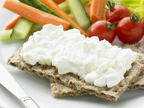 Healthy breakfast: cottage cheese