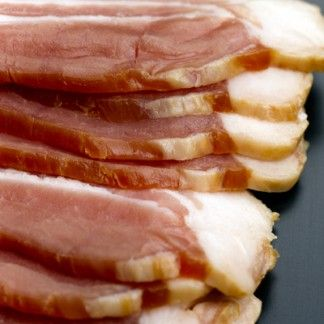 Food, Cuisine, Pork, Dish, Animal product, Fast food, Breakfast, Animal fat, Bacon, Peach,