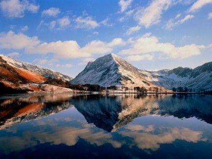 Nature, Mountainous landforms, Natural landscape, Mountain range, Reflection, Water resources, Highland, Landscape, Mountain, Winter,