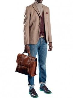 Clothing, Brown, Product, Trousers, Collar, Denim, Coat, Textile, Bag, Outerwear,