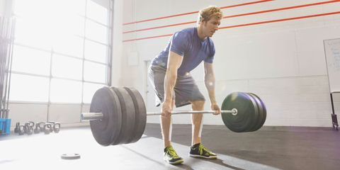 Weights, Barbell, Exercise equipment, Human leg, Chin, Elbow, Shoulder, Physical fitness, Room, Chest,