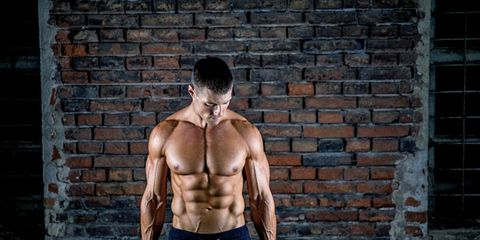 Barechested, Muscle, Standing, Shoulder, Arm, Chest, Model, Physical fitness, Abdomen, Bodybuilding,