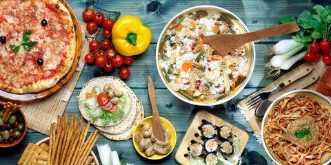 Food, Cuisine, Meal, Dish, Tableware, Dishware, Ingredient, Plate, Table, Finger food,