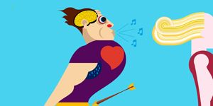 Yellow, Standing, Elbow, Line, Animation, Cartoon, Orange, Muscle, Graphics, Playing sports,